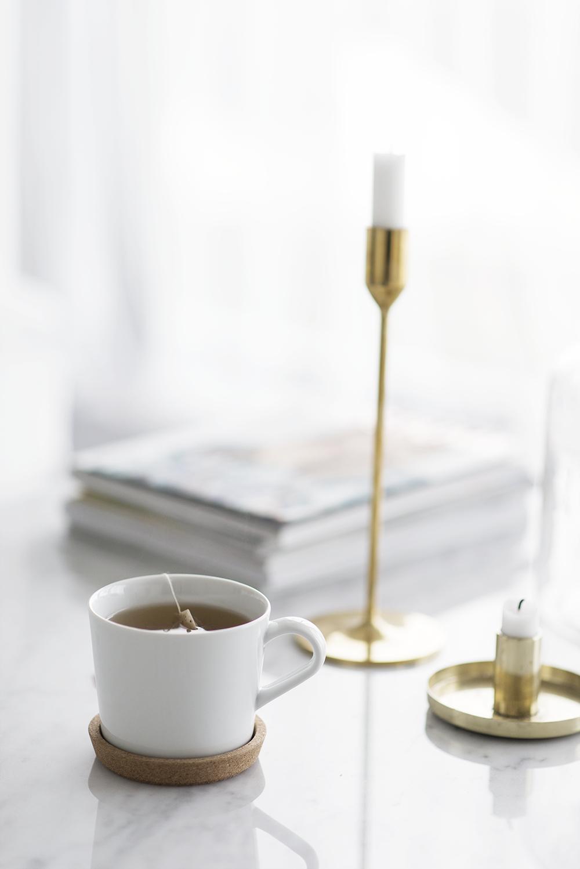 Sjukstuga med stort intag av te