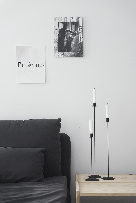 Svarta ljusstakar