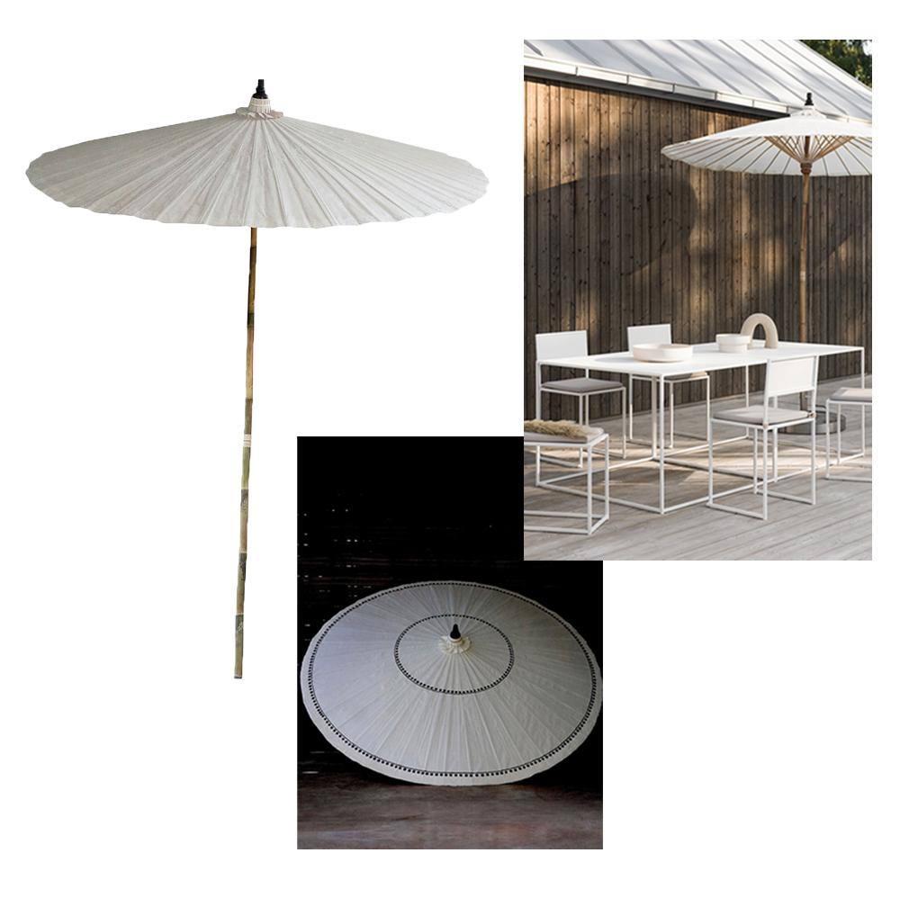 Vitt parasoll